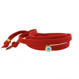oeil protection bracelet rouge happy bonheur la boutique de l'oeil mode