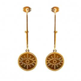 boucles doreilles oeil eye eyes la boutique de l'oeil happy joy summer lbo bijoux jewel jeellery